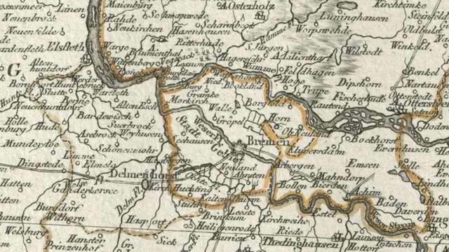 bremen-germany-old-map